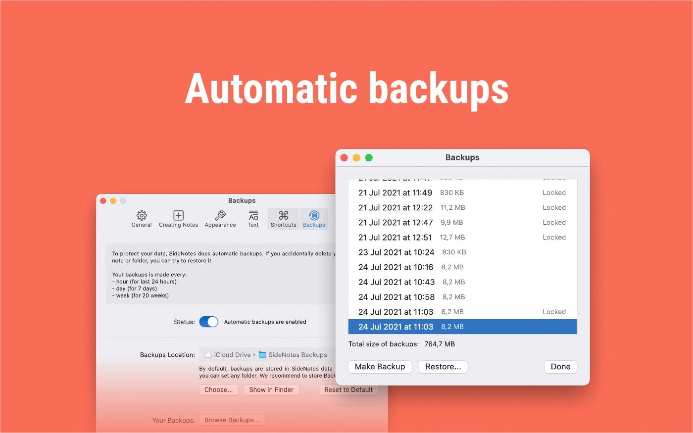 Automatic Backups